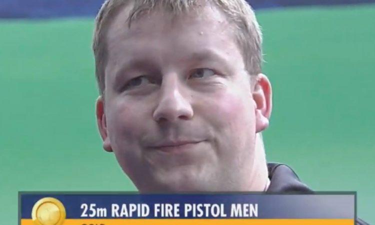 "Christian REITZ (GER) – winner in ""25m Rapid Fire Pistol Men"" at the ISSF  World Cup New Delhi 2019 42c24229a11"